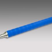 Chromwalze mit blauer Gummi Ummantelung
